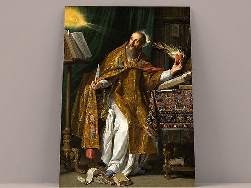 Philippe de Champaigne, Santo Agostinho, quadro, canvas, poster, replica, gravura, reprodução, tela