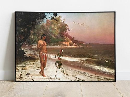 José Maria de Medeiros,Iracema,poster,gravura,reprodução,réplica,canvas,releitura,tela,pintura