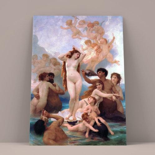 Bouguereau, Nascimento de Vênus, birth of venus, Quadro, poster, gravura, replica, reprodução, canvas, tela, pintura, anjos
