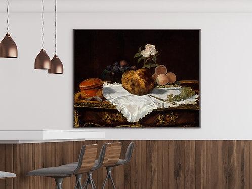 edouard, manet, O Brioche, quadro, reprodução, poster, canvas, gravura, replica, fototela, tela, pintura