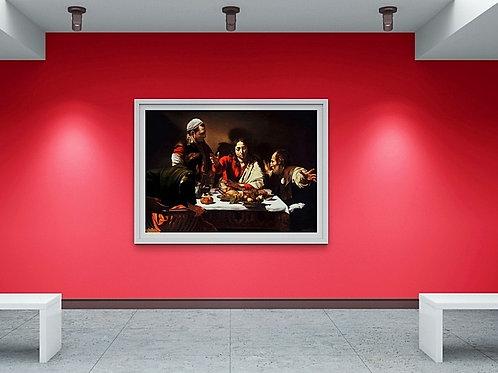 Caravaggio, A Ceia em Emaús, ceia de emaús, quadro, poster, replica, canvas, gravura, reprodução, tela, releitura, fototela