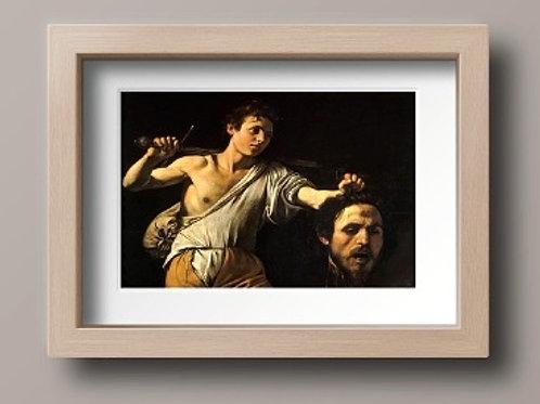 caravaggio, Davi com a Cabeça de Golias, quadro, poster, replica, canvas, gravura, reprodução, tela, releitura