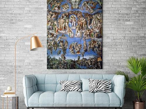 Michelangelo,Juízo Final,quadro,poster,replica, gravura, reprodução, canvas, fototela, cópia, tela, pintura