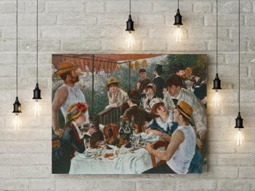 renoir, O Almoço dos Barqueiros,O Almoço dos Remadores,1881,Le Déjeuner des Canotiers,quadro,poster, gravura, replica, canvas