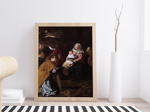 Velázquez, Adoração dos Reis Magos,quadro,poster,gravura,replica,reprodução,canvas,fototela,tela,pintura,releitura