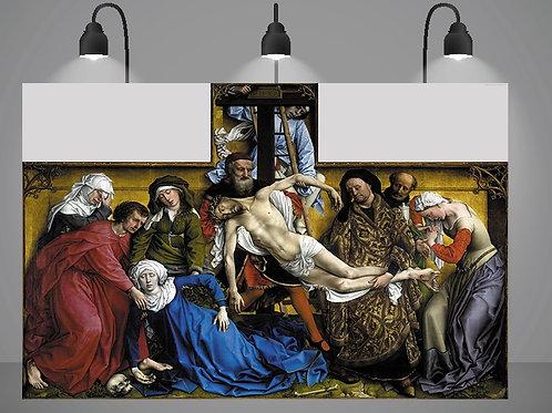 Roger van der Weyden,A Deposição da Cruz,quadro,canvas,poster,replica,gravura,reprodução,fototela,tela,pintura