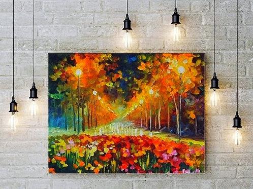 Quadro decorativo para sala, Leonid Afremov, Espatulado, quadro, poster, replica, gravura, canvas, reprodução, tela, releitur