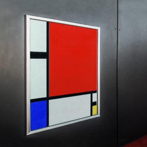 piet Mondrian, Composição com Azul, Vermelho, Amarelo, quadro, poster, gravura, canvas, replica, reprodução, releitura
