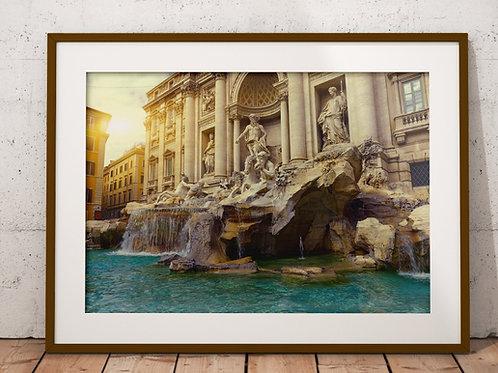 fotografia,Itália,Fontana di Trevi,viagem,quadro,canvas,poster,replica,gravura,reprodução,fototela,tela,pintura