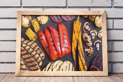 quadro,poster,gravura,canvas,foto,tela,fotografia,cozinha,Alimento,Legumes grelhados,sala,jantar,varanda gourmet