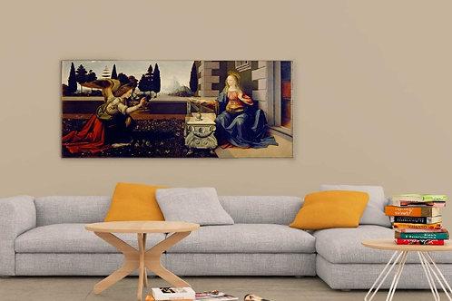 Leonardo Da Vinci, Anunciação, annunciation, quadro, poster, replica, canvas, gravura, reprodução, tela, releitura, cópia