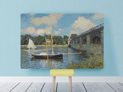 claude monet, ponte de argenteuil, the bridge at argenteuil,quadro, poster, réplica, canvas, reprodução, gravura, tela