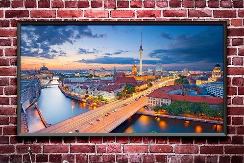arquitetura,Cidades,Berlim,Panorâmica,vista,panorâmico,poster,gravura,reprodução,réplica,canvas,tela,pintura,fine art