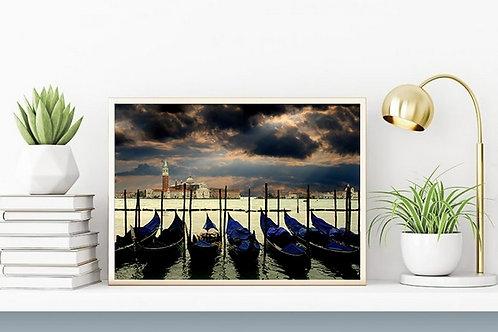 fotografia,Gondolas,Veneza,Itália,cidade,turismo,quadro,canvas,poster,replica,gravura,reprodução,fototela,tela,pintura