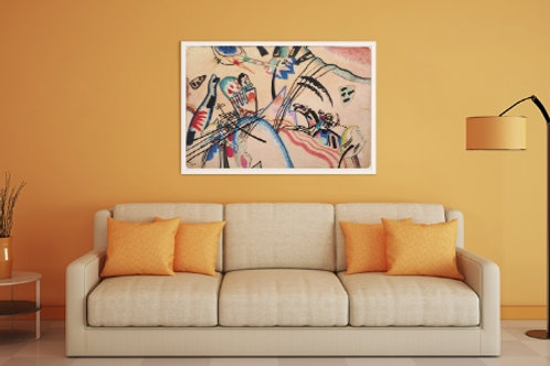kandinsky Improvisação, Improvisation, poster, gravura, reprodução, canvas, replica, releitura
