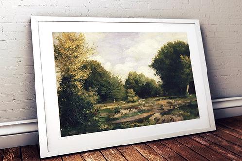 Renoir,uma,a,Clareira,na,Mata,Floresta,quadro, poster, gravura,replica,canvas,reprodução,tela,fotela,pintura