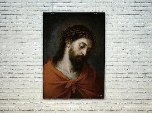 Murillo, Ecce Homo, Jesus, Crucificado, Coroado, quadro, poster, gravura, canvas, replica, reprodução, fototela,tela,pintura