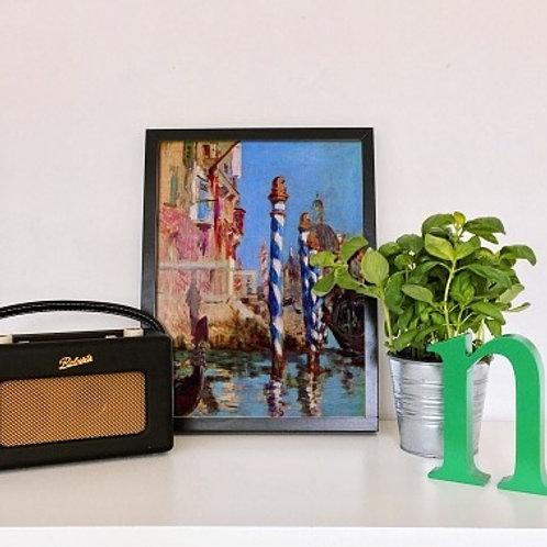 Manet, O Grande Canal de Veneza, The Grand Canal of Venice, quadro, poster, gravura, canvas, replica, reprodução, releitura