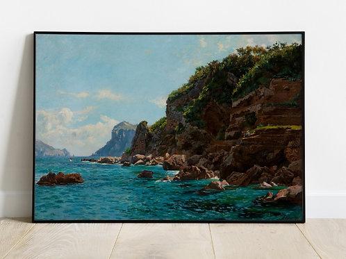 João Baptista da Costa, Gruta azul em Capri, quadro, poster, réplica, gravura, reprodução, canvas, tela, fototela, foto, tela