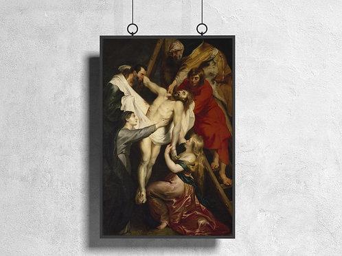 Rubens,Descida da Cruz,The Descent from the Cross,quadro,poster,gravura,canvas,replica,reprodução,fototela,tela,pintura