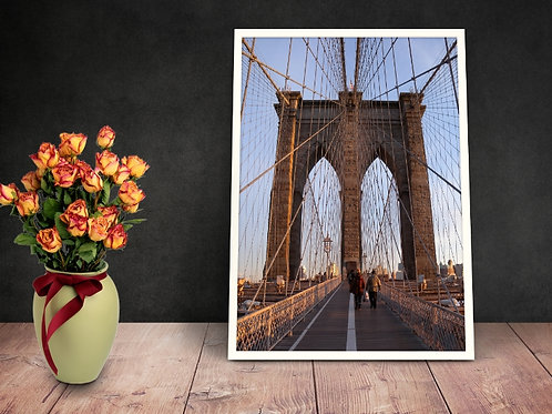 fotografia,ponte,estaiada,Ponte do Brooklyn,cidade,quadro,canvas,poster,replica,gravura,reprodução,fototela,tela,pintura