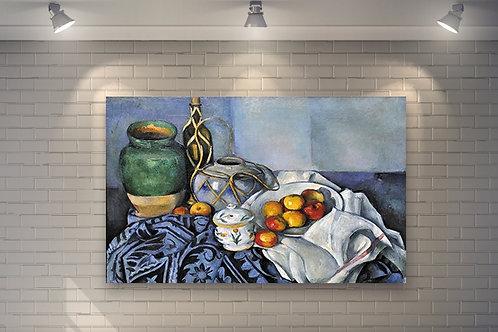 paul cezanne, natureza morta, com, maçãs, Still Life with Apples, quadro, poster, gravura, reprodução, canvas, replica, tela