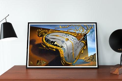Salvador Dali,Relógio Derretendo,The Melting Watch,quadro,poster,replica,gravura,canvas,reprodução,tela,releitura