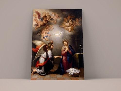 Murillo, Anunciação, quadro, poster, replica, canvas, gravura, reprodução, tela, fototela, pintura, releitura