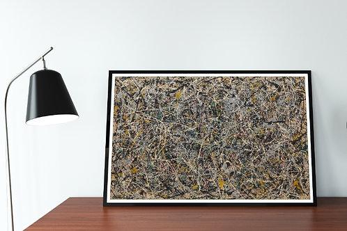 Pollock, numero 1,quadro, poster, gravura, canvas, replica, reprodução,fototela,tela,pintura
