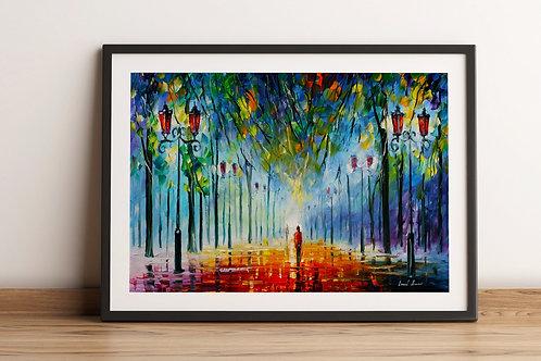 Quadro decorativo, Espatulado, Colorido, sala, quadro, poster, replica, gravura, canvas, reprodução, tela, releitura
