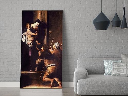 Caravaggio,Madona de Loreto,quadro,poster,gravura,replica,canvas,reprodução,fototela,pintura,tela,religiosa