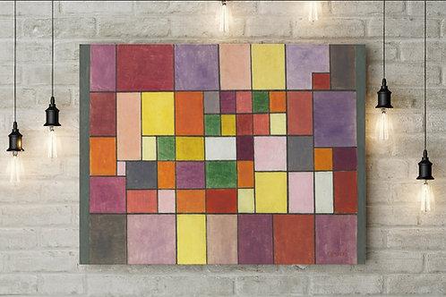 Paul Klee, Harmonia da Flora Nórdica, quadro, poster, gravura, canvas, replica, reprodução,fototela,tela,pintura