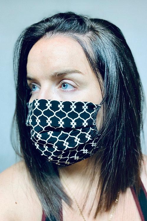 Masque noir et beige