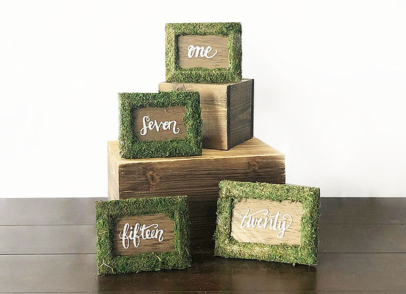 Woodsy Table Numbers