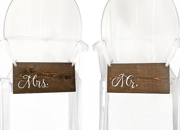 Signs, Mr/Mrs. offset wood