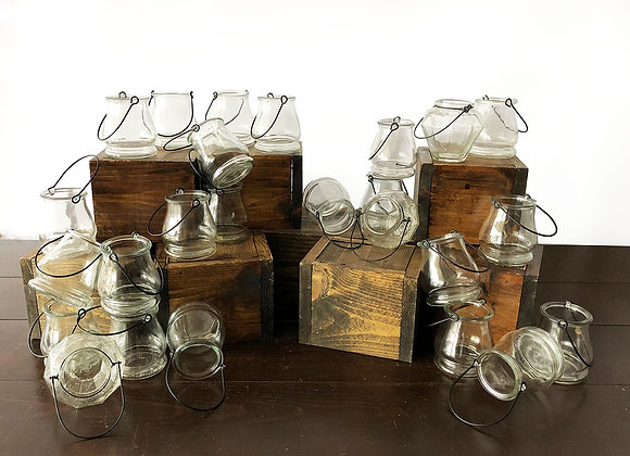 Glass Votive Holders with Handles