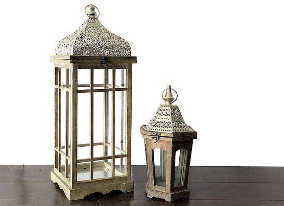 Lanterns, Wood/Silver