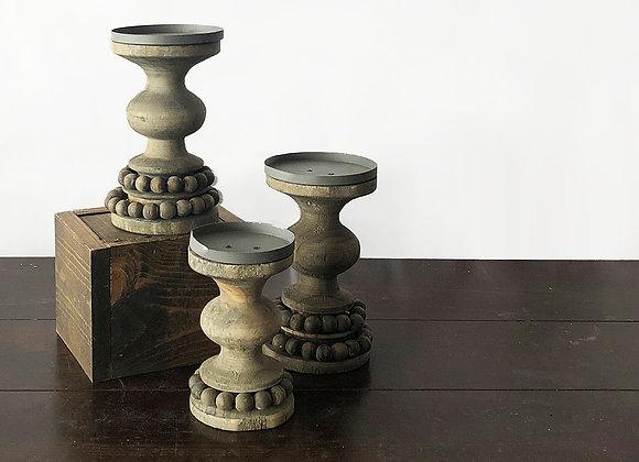 Beaded Candle Pillars