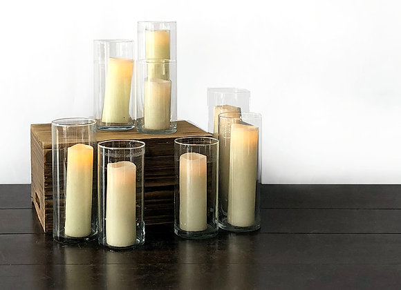 Pillar Candles in Glass Cylinders