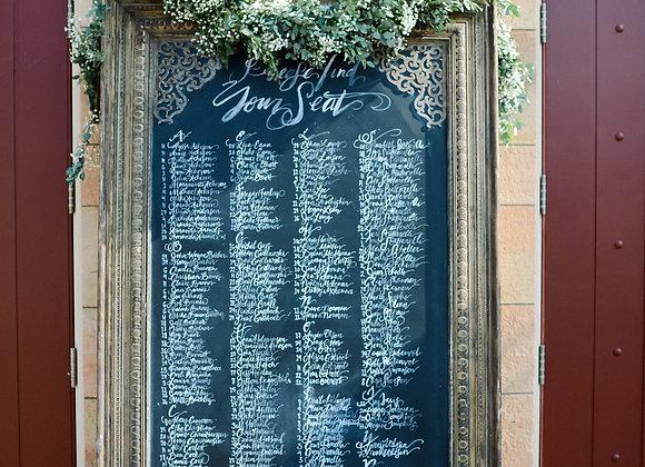XL Ornate Chalkboard