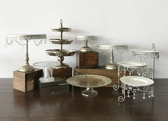 Silver Dessert Stands