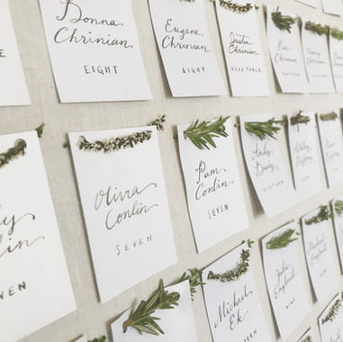 Paper with Greenery
