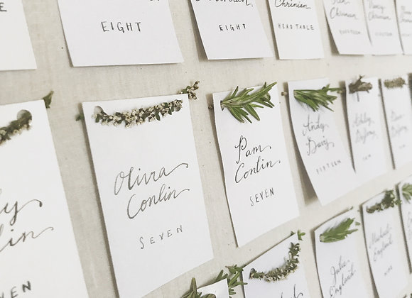 Floral-Ready Escort Cards