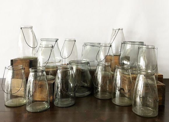 Clear Glass Containers w/handles