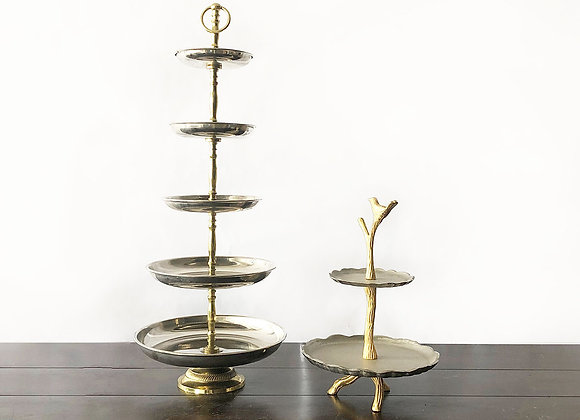 Gold/Silver metal tiered stands