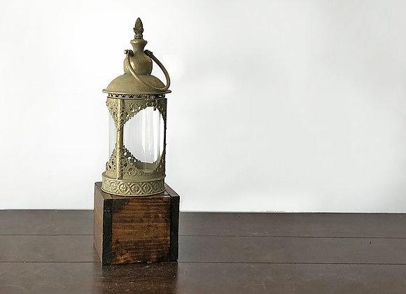 Lantern, Gold Ornate Antiqued