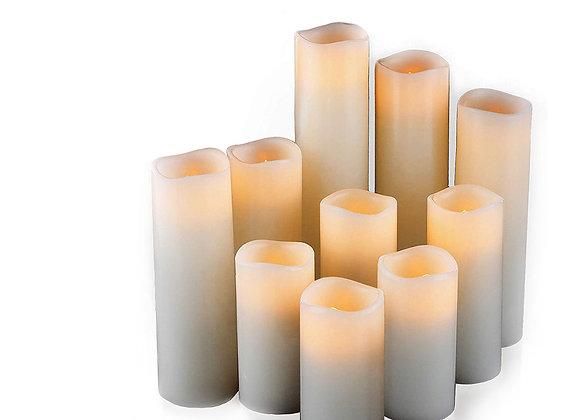 Pillar Candles, Flickering
