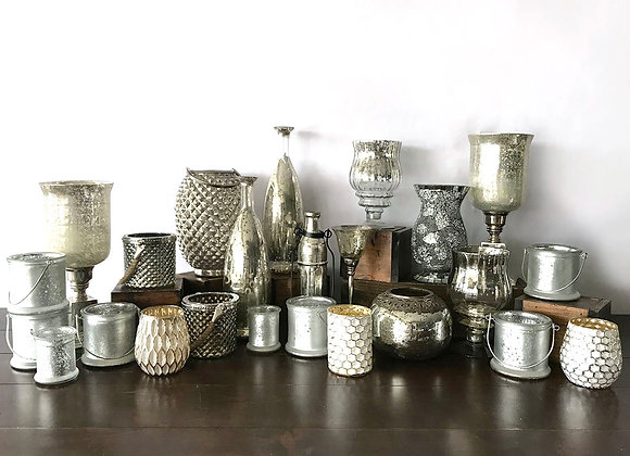 Silver Decor, Large, Containers