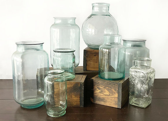 Depression Glass, Large Containers