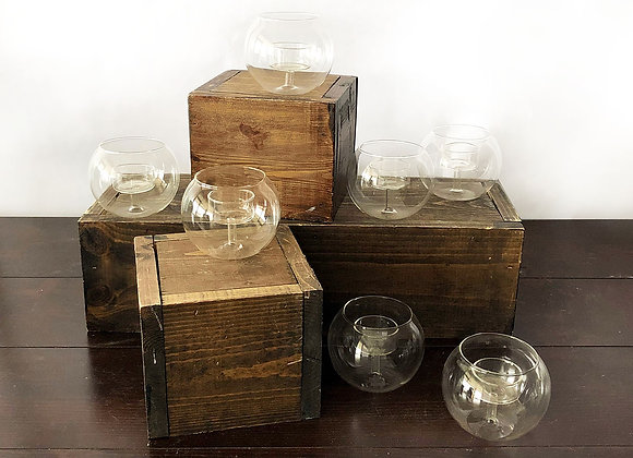 Clear Glass Votive Holders, Decor Containment